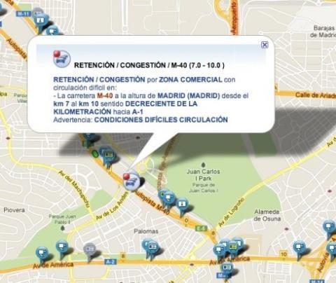 Información del atasco producido por la acción de Samsung de regalar gasolina a sus usuarios