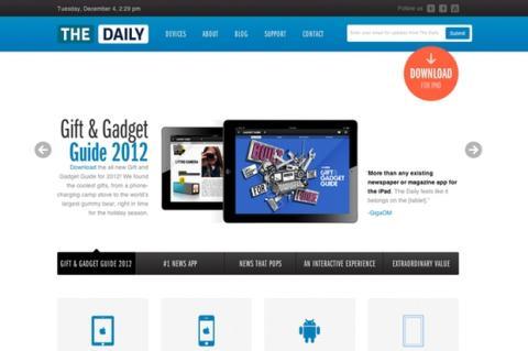 Página web de The Daily