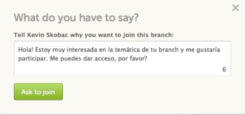 Participa en los branch de otros usuarios