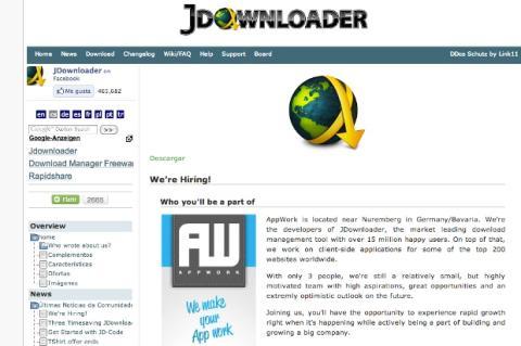 Gestiona tus descargas directas con jDownloader