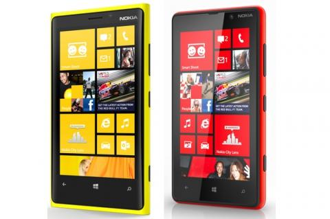 Nokia Lumia 920 y 820 con Windows Phone 8