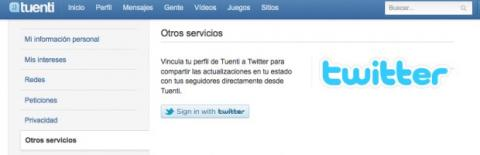 Vincula tu cuenta de Twitter con Tuenti