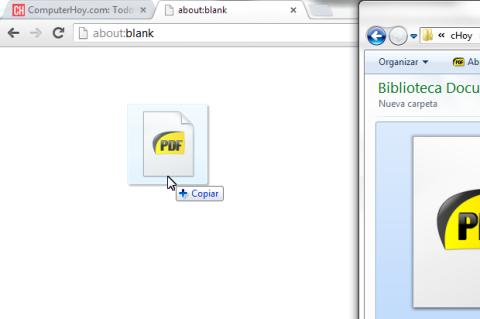 Arrastra archivo PDF al navegador