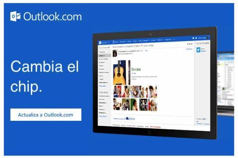 """Email de Hotmail a sus usuarios, invitando a """"mover"""" sus cuentas a Outlook.com"""