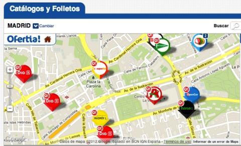 Mapa de catálogos en Ofertia