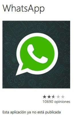 Whatsapp para Windows Phone 8, eliminada de la tienda de apps