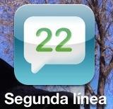 Icono de la app Segunda Línea de Movistar para iPhone