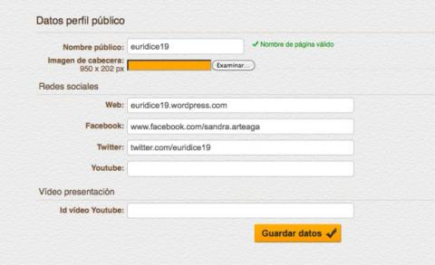 Crea tu perfil público en Picyourlife