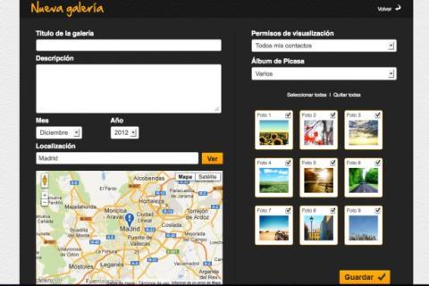 Crea una nueva galería de fotos en Picyourlife
