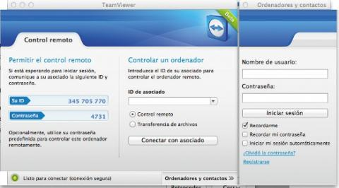 Interfaz de instalación de Teamviewer en MAC