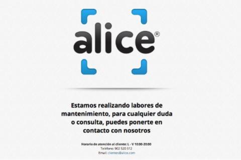 Alice cierra en España