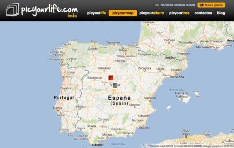 Explora tus galerías en el mapa en Picyourlife