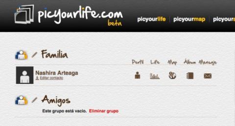 Explora tus contactos en Picyourlife