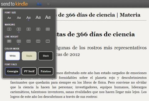 Envía una web a Kindle