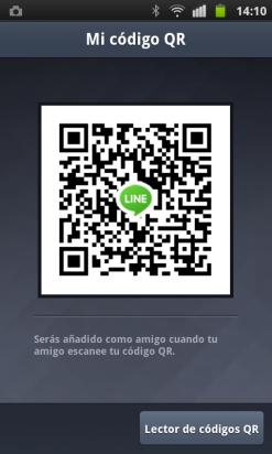 Añade amigos a través del código QR en LINE