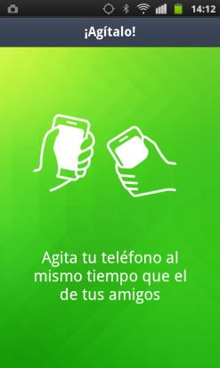 Añade amigos en LINE agitando vuestros móviles