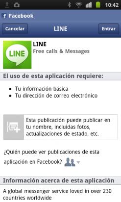 Vincula tu cuenta de Facebook con LINE