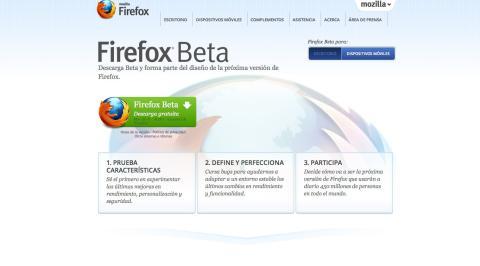 Interfaz Firefox 18