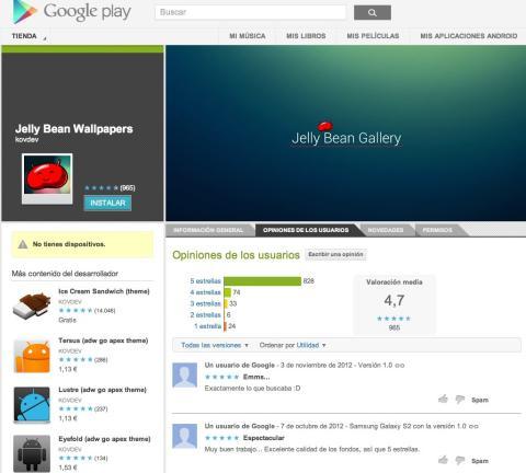 Google Play comentario desarrollador