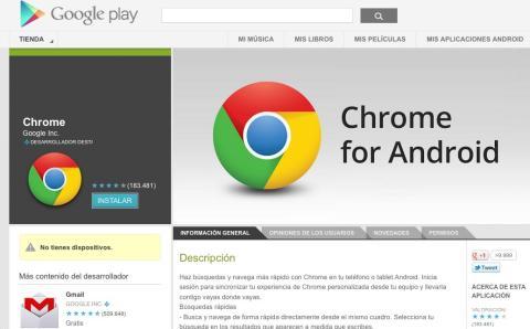 beta chrome para android