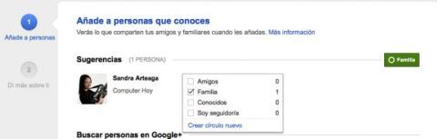 Añade a contactos sugeridos en Google Plus