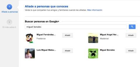 Busca a las personas que conoces en Google Plus