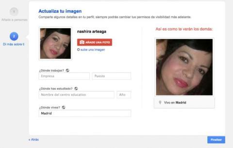 Completa la información de tu perfil en Google Plus