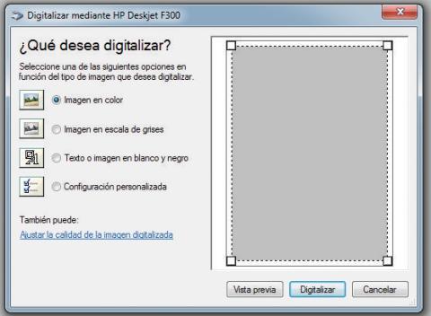 Pantalla de PaperPort para ajustar la calidad de imagen de los documentos