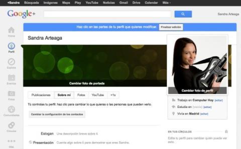 Completa tu información personal en Google Plus