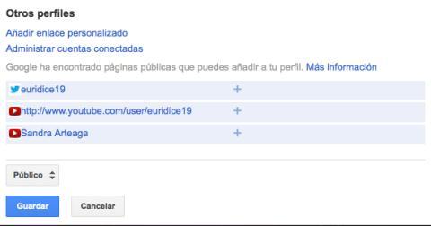Sincroniza tu cuenta con otros perfiles en Google Plus