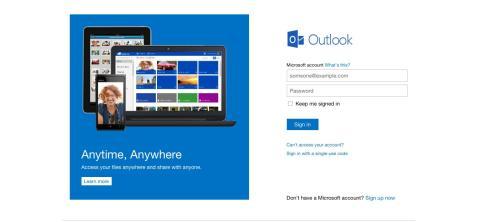 Interfaz Outlook.com