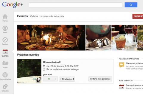 Crea un evento en Google Plus
