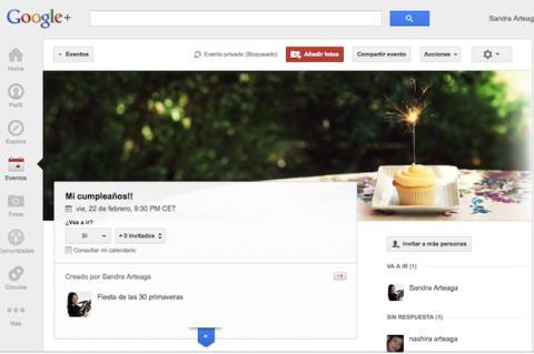 Administra un evento en Google Plus