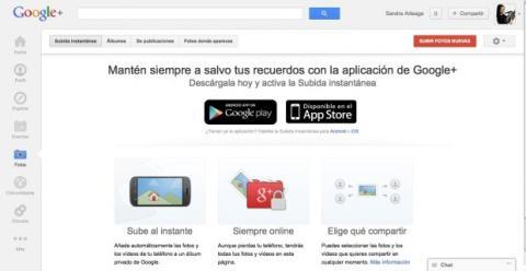 Activa la subida instantánea en Android o iOS