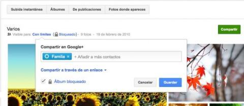 Administra la visibilidad de tus álbumes en Google Plus