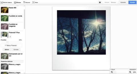 Aplica efectos a las fotos en Google Plus