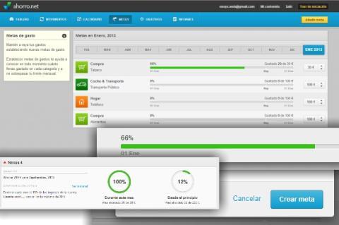 Ponte metas de ahorro y gasto con Ahorro.net