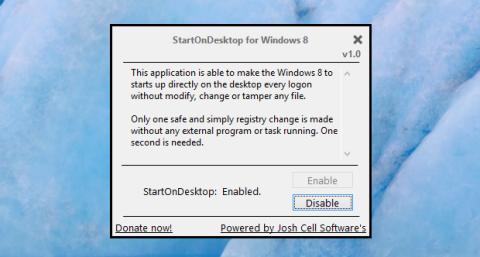 Los cambios son totalmente reversibles gracias al botón Disable.
