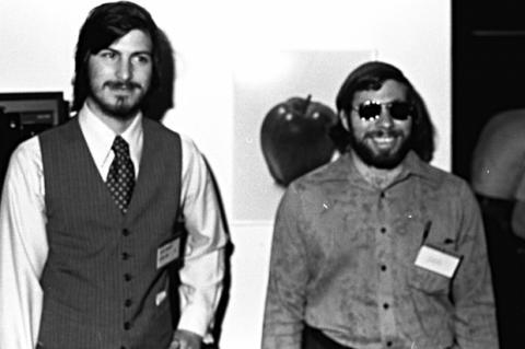 Steve Wozniak y Steve Jobs juntos en los primeros tiempos de Apple