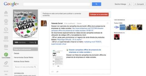 Únete a una comunidad en Google Plus