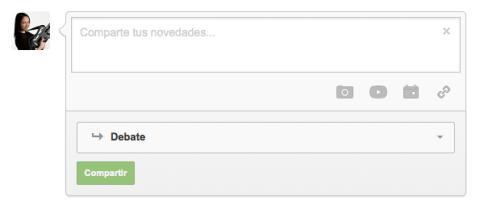 Comparte algo con la comunidad en Google Plus