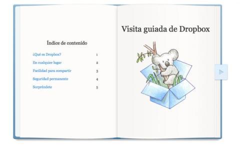 Realiza la visita guiada de Dropbox