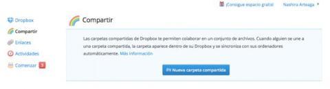 Comparte una carpeta en Dropbox