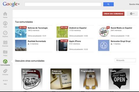 Crea una comunidad en Google Plus