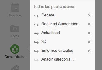 Añade las categorías de las publicaciones de tu comunidad en Google Plus