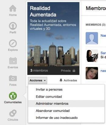 Accede a la lista de invitados y miembros de la comunidad de Google Plus