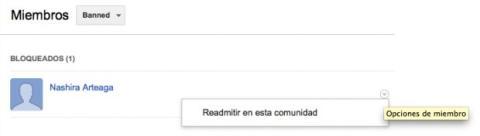 Prohíbe el acceso de un usuario a tu comunidad de Google Plus