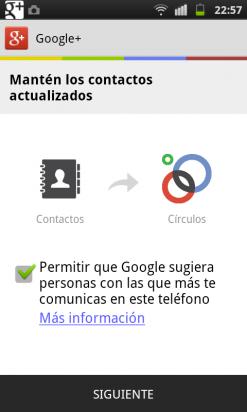Sincroniza tus contactos en la app de Google Plus