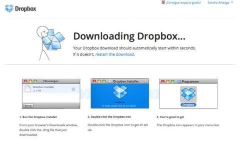 Descarga Dropbox en el ordenador