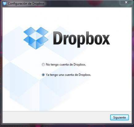 Configura tu cuenta de Dropbox en el ordenador